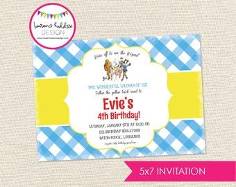 Wizard of Oz (inspired) Birthday Invitation, Wizard of Oz Birthday, Wizard of Oz Printables, Wizard of Oz Decorations, Lauren Haddox Designs
