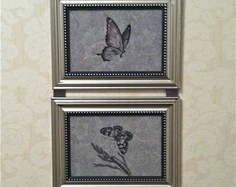 Butterfly Wall Hanging Collage Picture Art