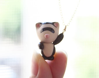 Fred the Ferret hanging necklace -14k gold filled-