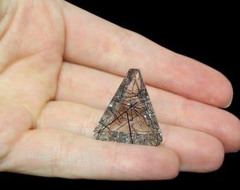 Tourmalinated Quartz Faceted Stone - 23.48 carats