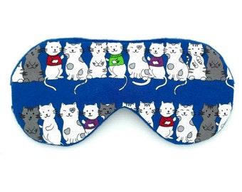 CATS Handmade sleep eye mask with adjustable elastic