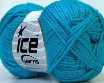 Aqua Cotton Yarn Knitting Crochet