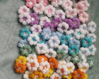 Crochet Flowers #scrapbooking#accessory#crafting#flowers