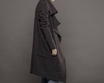 Wool coat / Long coat / Winter coat / Wool cardigan / Wool fabric / Cardigan / Jacket / Wool sweater / Oversized sweater / Plus size