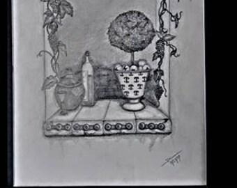 """original artwork, OOAK, graphite """"Italia"""""""