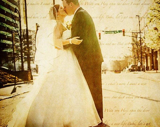 Wedding Vows Song Lyric Custom Word Art Photo Gift on Glossy Heavyweight Paper 8.5x11