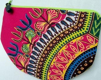 Ghana Print Zip Pouch
