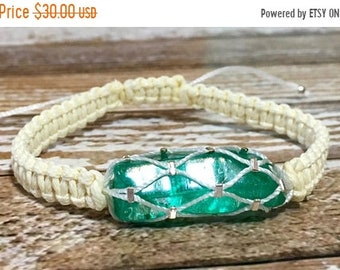 SALE Crystal Jewelry / Raw Crystal / Chakra Jewelry / Emerald Jewelry / Green Crystal / Healing Crystal Bracelet