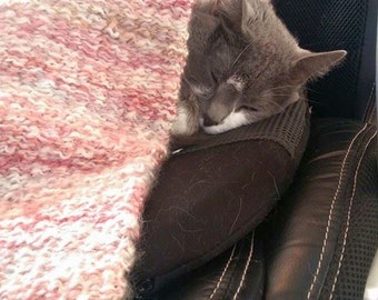Handwoven Catnip Blanket, Thick N Soft, Pick a Color, Blanket for Cats & Kittens, Optional Catnip