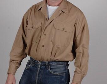 True vintage 1940s WW11 U.S Military shirt with gas flap