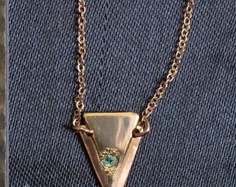 Rose Gold and Diamond Triangle