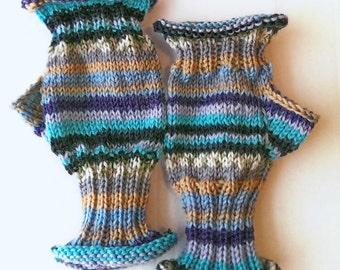 Stripe it To Me Fingerless Gloves Degas