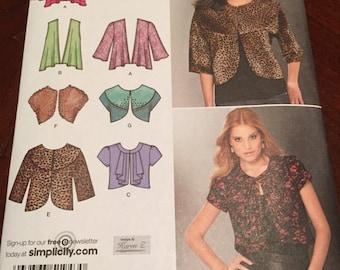 Simplicity 1943 Jacket and Vest Pattern, Size H5, Size 6 - 14, UNCUT