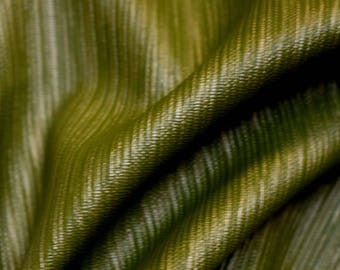 REMNANT Green Vinyl Fabric 55 inches x 2.25 yards