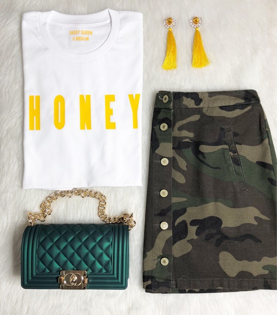 Honey / Statement Tee / Graphic Tee / Statement Tshirt / Graphic Tshirt / T shirt