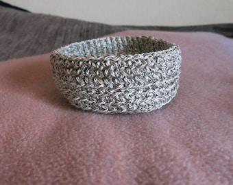 Utensilo Basket Crochet CA 14 x 6 cm/round