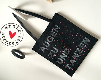 Tote bag/gym bags 'dance', black