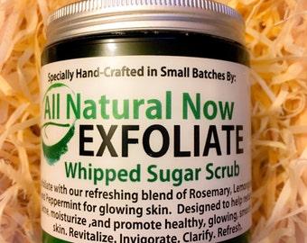 Exfoliate Whipped Sugar Scrub/100% Pure & Therapeutic Essential Oils/Skin Renewal/Cleanser/Anti-Aging