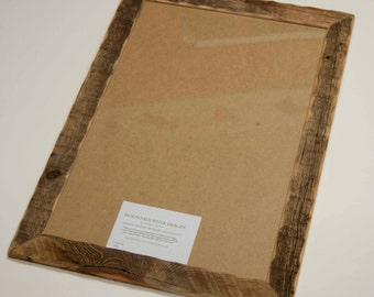 16x20 or 16x24 Reclaimed Barn wood distressed rustic picture frame upcycled weathered barnwood