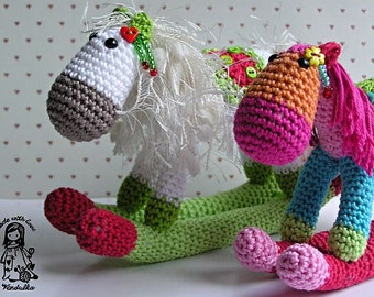 Crochet pattern by VendulkaM - Christmas Rocking horse - amigurumi/ toy pattern, digital, DIY, pdf