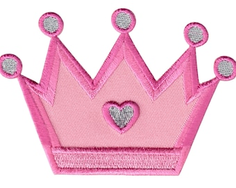 Princess Crown Iron-On Patch Applique  - Kids / Baby
