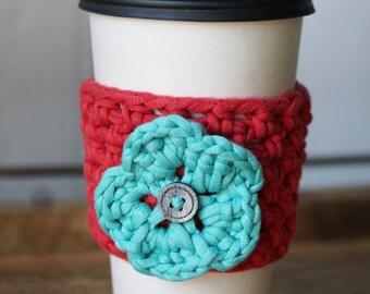 Coffee Cozy / Mug Cozy / Crochet Cozy / Mason Jar Cozy