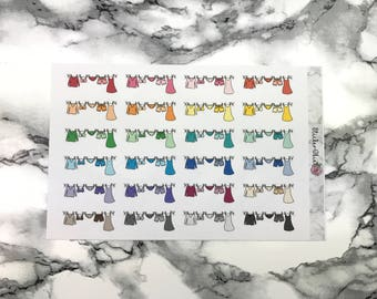 RF026 Laundry Line Planner Sticker