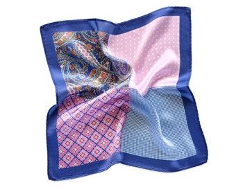 Silk Pocket Square Mood Swings Purple  4in1