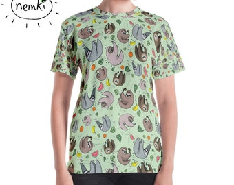 Cute Sloth T-shirt Sloths T-shirt Women Sloth Top Sloth Clothes Sloth Gift for Her