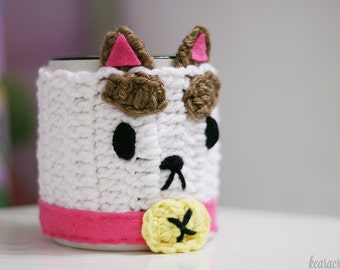Puppycat Mug Cozy (with Bee button!)