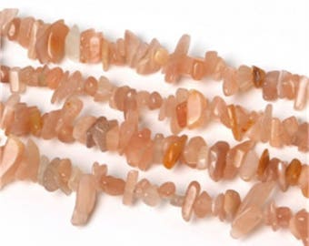 Set of 2-3 to 5 mm approx - coral stone beads Moon Stone