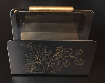 Vintage MGM INOX 18/10 Made in Italy Napkin Letter Holder