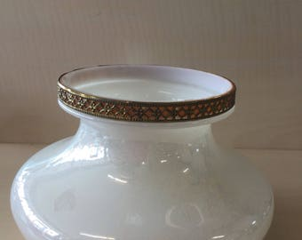 Opalescent and Gold Glass Lamp Shade