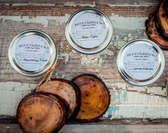 CHOOSE 6--8 oz jar--Eco Friendly--Handpoured Soy Wax Candles