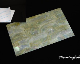 Gold Mother-of-Pearl Coated Adhesive Veneer Sheet (MOP Shell Overlay Inlay Luthier Nacre Craft)