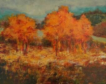 TASTING AUTUMN - original painting 50x40cm