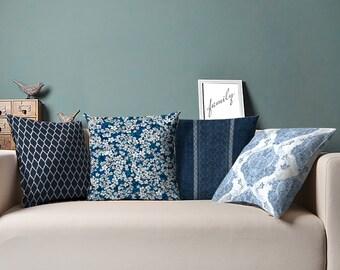 Blue Pillow, Throw Pillows, Decorative Pillow, Throw Pillow, Decorative Throw Pillows, Accent Pillow, Decorative Pillows