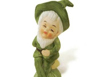 Vintage Hand Painted Elf Gnome Figurine