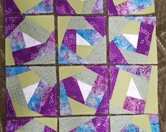 Crazy quilt block set of 12