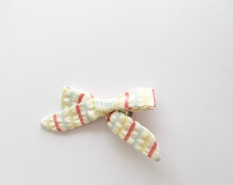 Fabric bow clip baby toddler girl