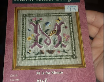 M is for Mouse Just Nan Cross Stitch Pattern