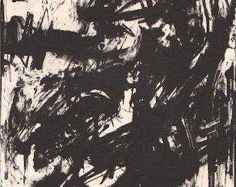 """Emilio Vedova """"Intollerenza"""" Original Lithograph - XX siecle 1960"""