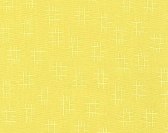 Conservatory by Heather Jones, Roots in Chartreuse - Fabric by the Yard