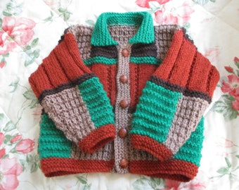 Warm Hand Knitted  Baby Jacket 6-12 months