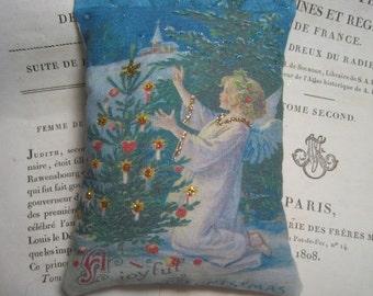 Christmas Angel Ornament, Cedar Balsam Sachet, Lavender Sachet, Christmas Gift, Vintage Christmas, Christmas Gift, Nordic Danish Angel