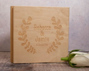 Personalised Wooden CD / DVD case - Wedding CD Music Video Wedding Photographs, Gift, 5th Year Wood Anniversary Gift, Custom text engraving