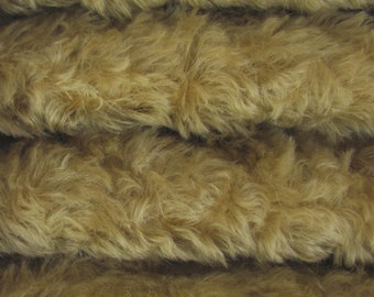 Quality 785S/C - Mohair - 1/3 yard in Intercal's Color 322S-Buckwheat. A German Mohair Fur Fabric for Teddy Bear Making, Arts & Crafts