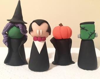 HALLOWEEN COLLECTION - witch, vampire, headless horseman, frankenstein