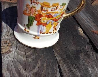 Vintage Shaving Mug / Gentleman's Tea Cup / Barber Shop Decor / Barber Accessories / Enesco / Men's Grooming / Gift for Groom / Wedding