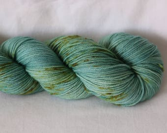 Hand Dyed Yarn - Superwash - Sock Yarn - 80/20 Merino/Nylon - Tonal- Speckles - 'Sprig'